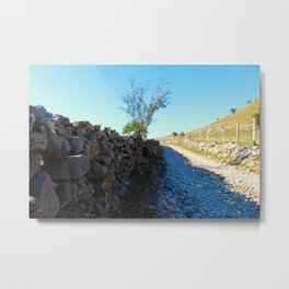 Mountain road to the old Bosnian village Metal Print