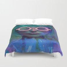 Pink Glasses girl Duvet Cover