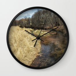 Grass Alongside Oak Creek Wall Clock