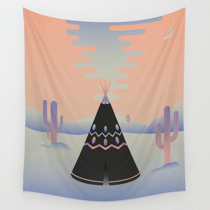 Tipi ritual Wall Tapestry