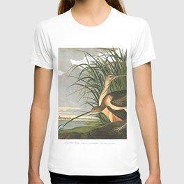 Long billed curlew, Birds of America, Audubon Plate 231 T-shirt