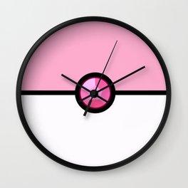 Rose Quartz Pokeball Wall Clock