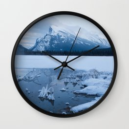 Winter in Banff Alberta Wall Clock