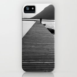 Wooden lake pier iPhone Case