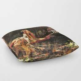 The Lady of Shalott Remastered Floor Pillow
