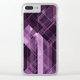 Abstract violet pattern Clear iPhone Case