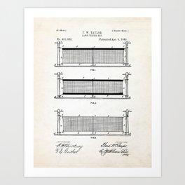 Tennis Net Patent Illustration Art Print