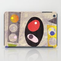 50s iPad Cases featuring Atomic 50s 60s Inspired Retro Collage Abstract Pink by Beatrice Roberts