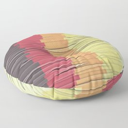 Shreds of Color 5 Floor Pillow