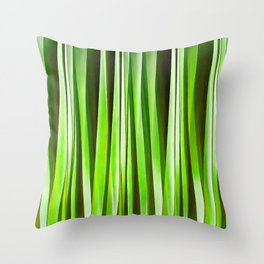 Tropical Green Riverweed Throw Pillow