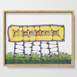 Funky yellow architectural design 51 Serving Tray