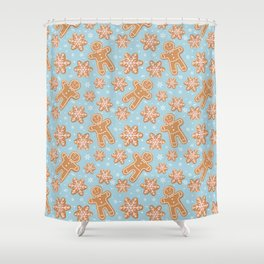 Winter Gingerbread Cookies Shower Curtain