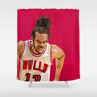Geometric Noah Shower Curtain