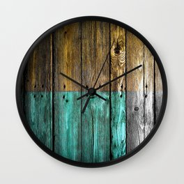 Wooden style paint Wall Clock