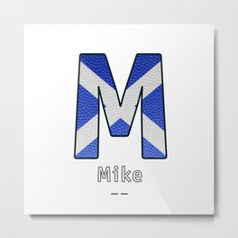 Mike - Navy Code Metal Print