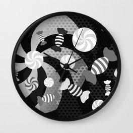 Black and White Sugar Crush Wall Clock