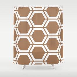 Café au lait - violet - Geometric Polygon Pattern Shower Curtain
