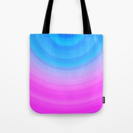 Pink & Blue Circles Tote Bag