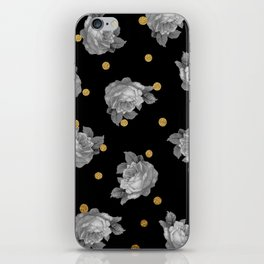 Roses and Gold Dots iPhone Skin