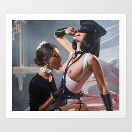 The Maid & the Domiant Art Print