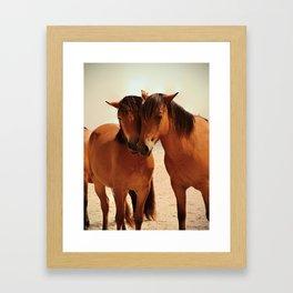 Beached Ponies - Love Framed Art Print