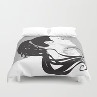 black swan Duvet Covers featuring Swan by Stevyn Llewellyn