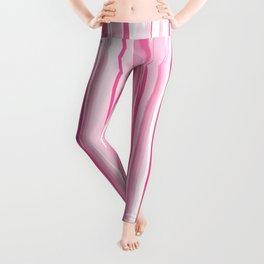 Pink watercolor stripes pattern Leggings