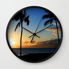 Alii Kahekili Nui Ahumanu Beach Maui Hawaii Sunset Kaanapali Wall Clock