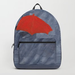 Orange Umbrella Backpack