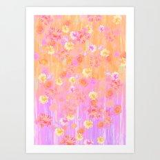 Barley Rose  Art Print