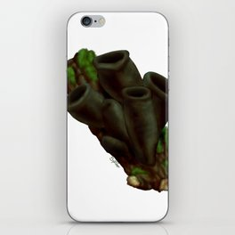 Black Urn Mushrooms iPhone Skin