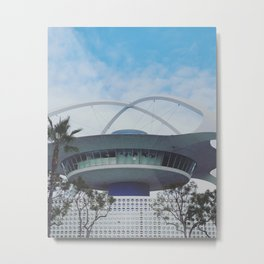 Los Angeles Arrival - LAX Theme Populuxe Architecture (Googie) Metal Print