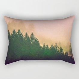 Cascadia Green Trees and Sunset Rectangular Pillow