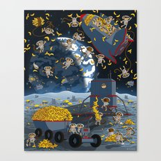 Space Monkeys Go Bananas! Canvas Print
