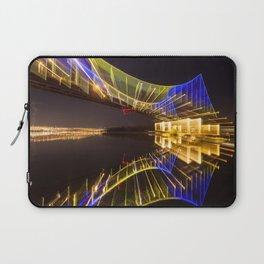 Footbridge in Kiev at night. abstract shot Laptop Sleeve