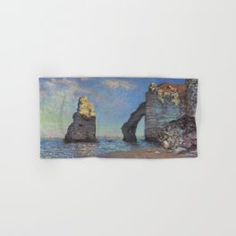 Claude Monet's The Cliffs at Etretat Hand & Bath Towel