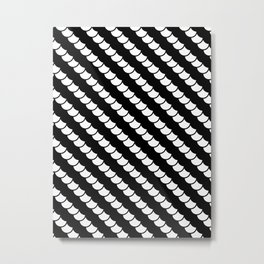 Spinal Stripes Metal Print