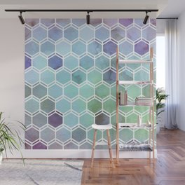 TWEEZY PATTERN OCEAN COLORS byMS Wall Mural