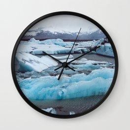 Jökulsárlón Glacier Lagoon, Iceland Wall Clock