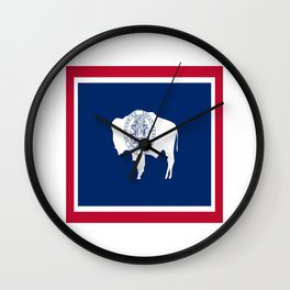 flag wyoming,america,usa,west,moutain, equality,Wyomingite,Cheyenne,Casper,Laramie Wall Clock