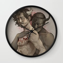 Devil's Embrace Wall Clock