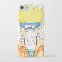 naruto iPhone & iPod Cases featuring Naruto Uzumaki by rosalia