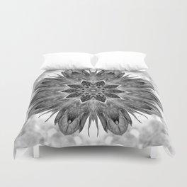Beautiful Black White Flower Abstract Duvet Cover