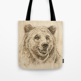 Grizzly Bear Greeting Tote Bag