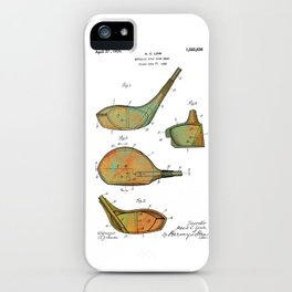 Golf Club Heads Patent - 1926 iPhone Case