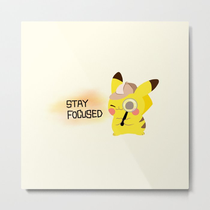 pikapika chu - stay focused Metal Print