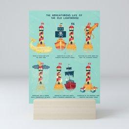 THE ADVENTUROUS LIFE OF THE OLD LIGHTHOUSE Mini Art Print