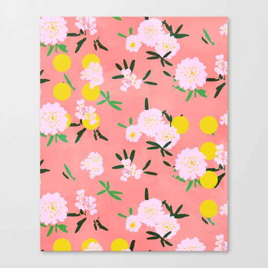 Pompon with dots Canvas Print