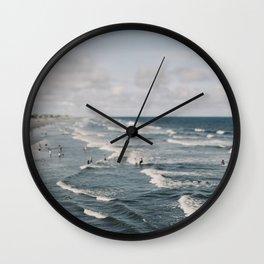 Blue Surf #2 Wall Clock