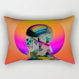 Android with a movie camera Rectangular Pillow